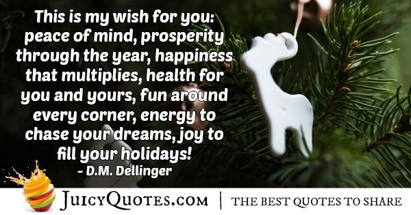 Joy to Fill Your Holiday Quote