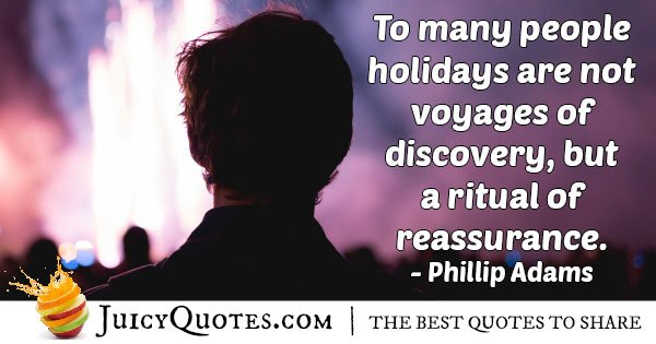 Ritual Holiday Quote