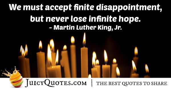 Never Lose Infinite Hope Quote