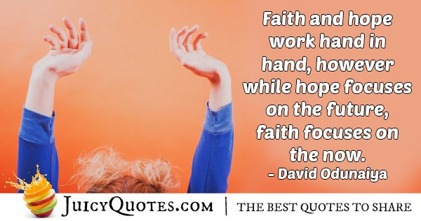 Faith and Hope Quote