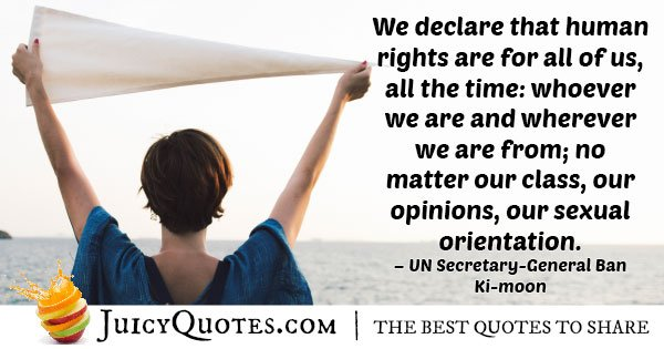 Human Rights For All Quote