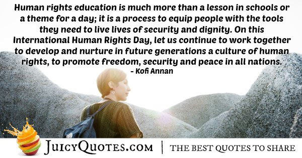 Human Rights Education Quote