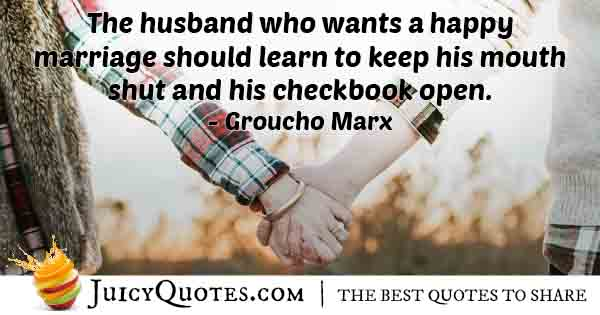 Husband with Happy Marriage Quote