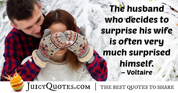 Husband Who's Surprised Quote