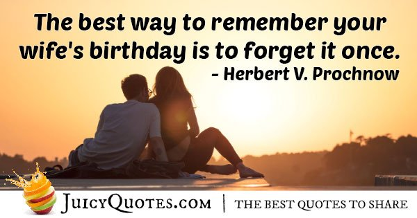 Husband and Wife's Birthday Quote