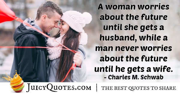 Husband Worries about Future Quote