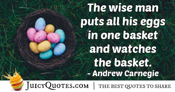 Investment Eggs Quote