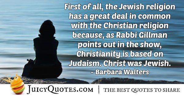 Judaism and Christianity Quote
