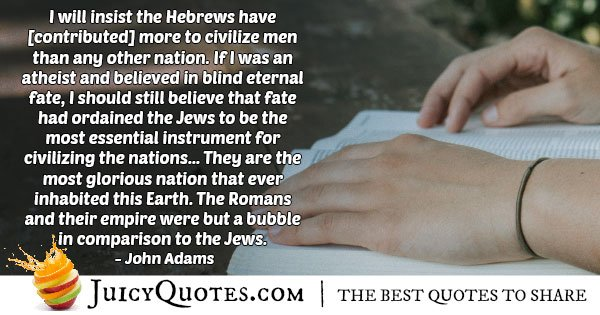 Judaism Glorious Nation Quote