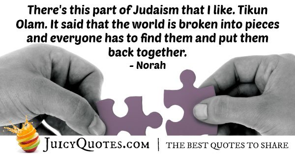 Tikun Olam Judaism Quote