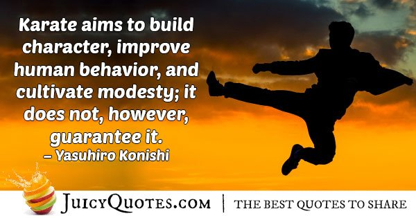 Karate Builds Character Quote