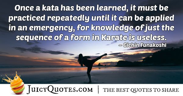 Karate Practiced Repeatedly Quote