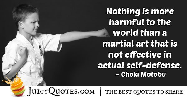 Karate Self Defense Quote