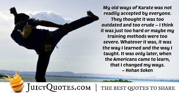 America Karate Quote