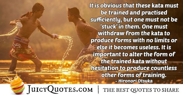 Karate Must Be Practiced Quote