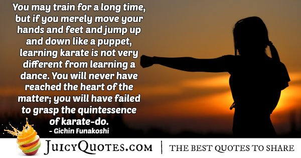 Quintessence of Karate Quote