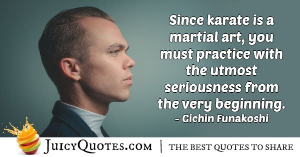 Karate is a Martial Art Quote