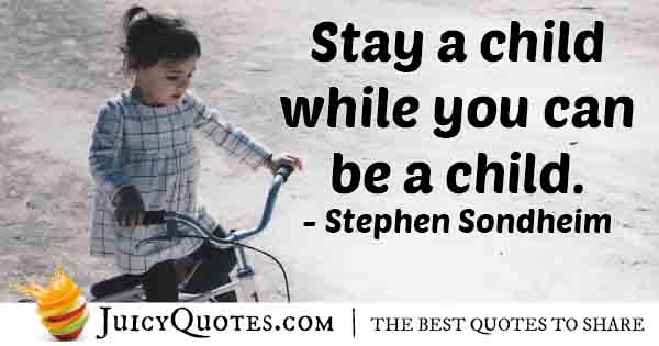 Stay A Child Quote