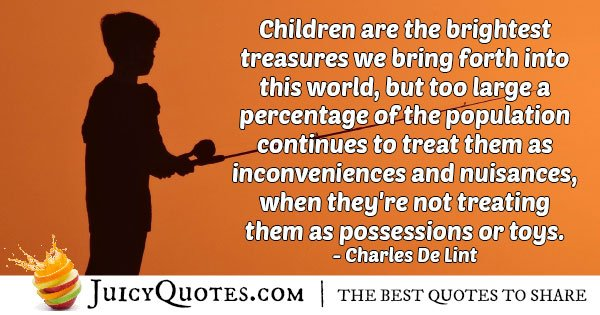 Kids Are Treasures Quote