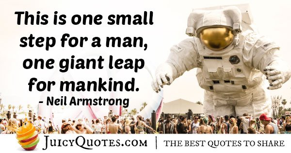 Giant Leap For Mankind Quote