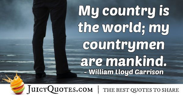 Mankind Are My Countrymen Quote