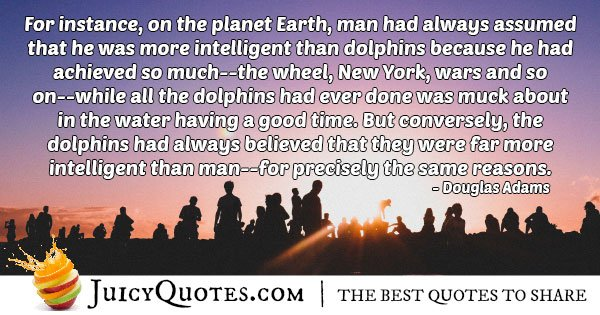 Mankind and Dolphins Quote