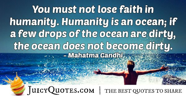 Faith In Mankind Quote