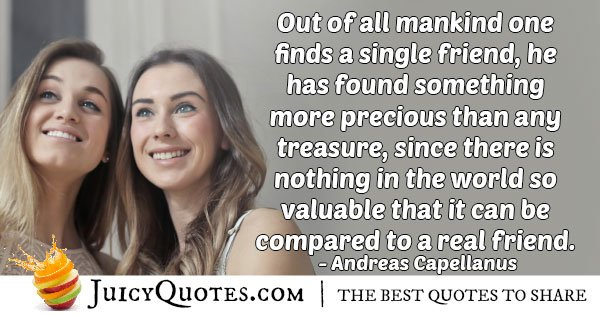 A Friend in Mankind Quote