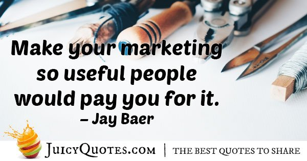 Useful Marketing Quote