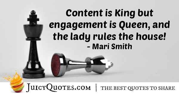 Marketing King and Queen Quote