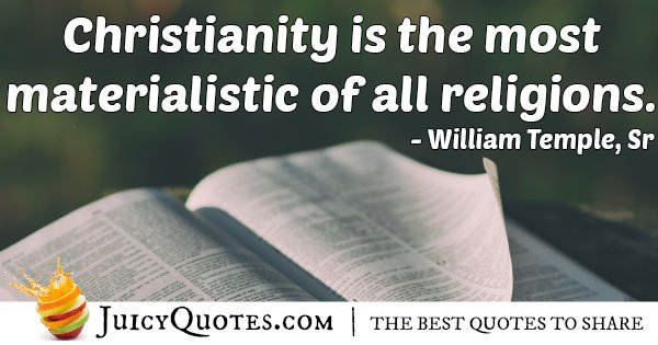 Religion and Materialism Quote