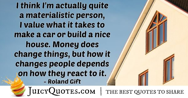 Materialism and Money Quote
