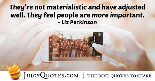 People VS Materialism Quote