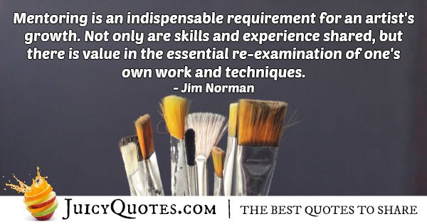 Mentors for Artists Quote