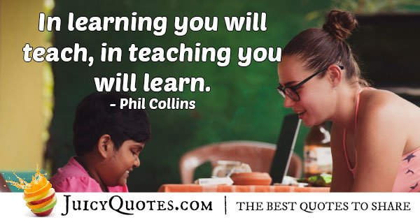 Mentors Teach and Learn Quote