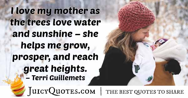 Love My Mom Quote
