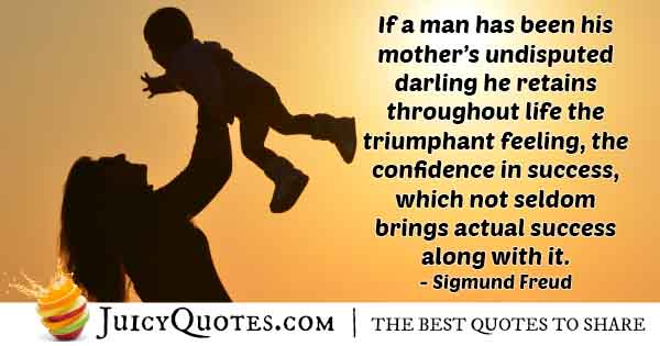 Man's Success From Mom Quote