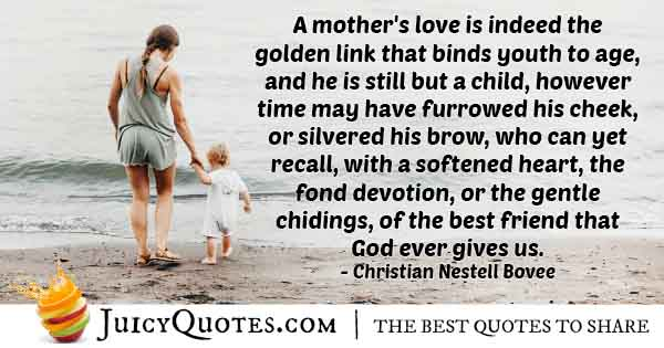 Mom's Love is Golden Quote