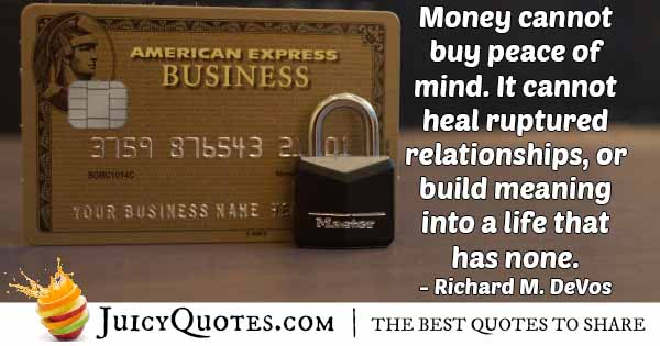 Money VS Meaning Quote