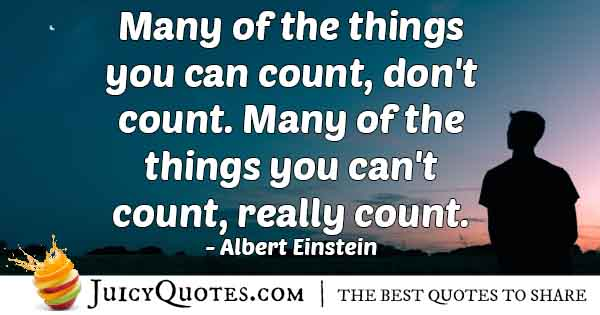Money and Counting Quote
