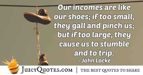 Money Like Shoes Quote