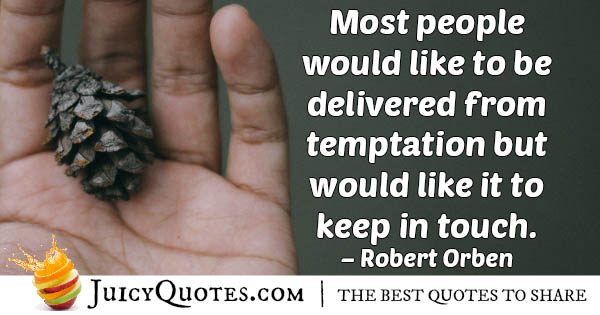 Delivered From Temptation Quote