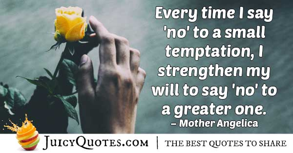 Say No To Temptation Quote
