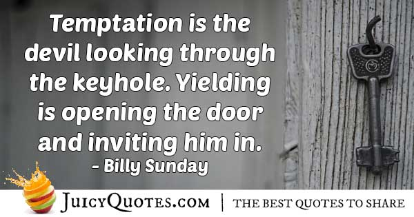 The Devil Of Temptation Quote