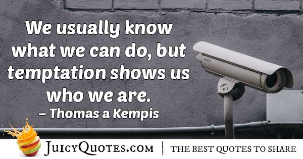 Temptation Shows Us Quote