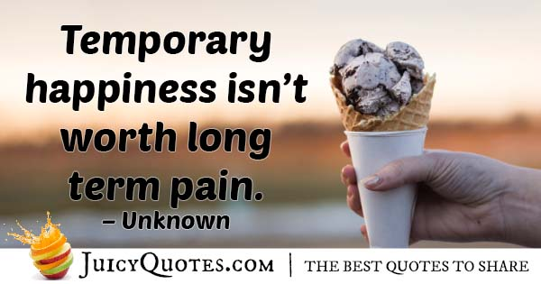 Temptation With Pain Quote
