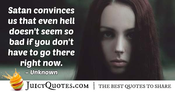 Temptation and Hell Quote