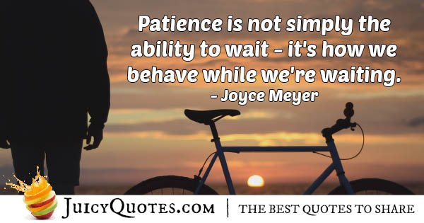 Patience And Waiting Quote