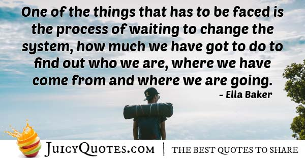 Waiting To Change Quote