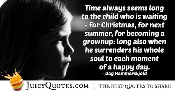 Child Waiting Quote